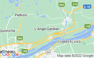 Map of Camping Ange-Gardien