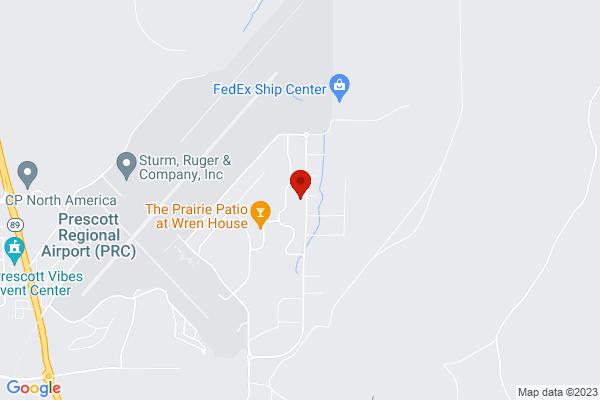 Google Map of 6720 Corsair Suite 6 Prescott, AZ 86301
