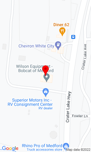 Google Map of Wilson Equipment, Inc. 6731 Crater Lake Hwy, Central Point, OR, 97502