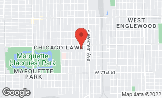 Map of 6736 South Campbell Avenue Chicago, IL 60629