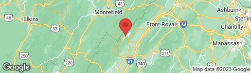 Map of 675 NICKLAUS BASYE, VA 22810