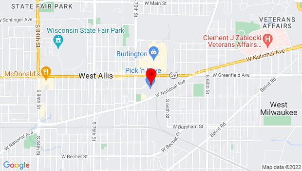 Google Map of 6759 W Greenfield Ave, West Allis, WI 53214
