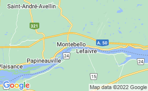 Map of Camping Montebello