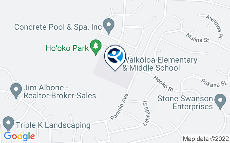 Big Island Substance Abuse Council Waikoloa Elementary and Middle Location and Directions
