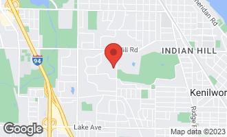 Map of 68 Locust Road WINNETKA, IL 60093