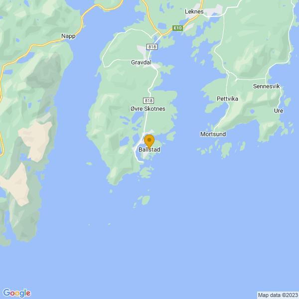Google Map of 68.0755764,13.54814799999997