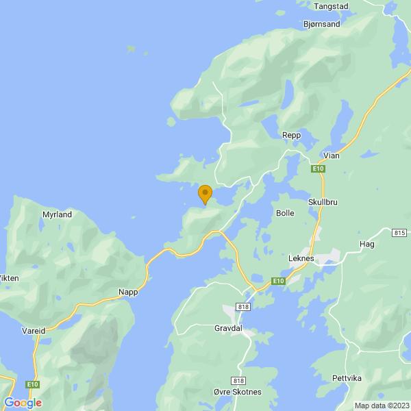 Google Map of 68.1661462,13.5137404