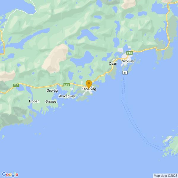 Google Map of 68.2103879,14.477104999999938