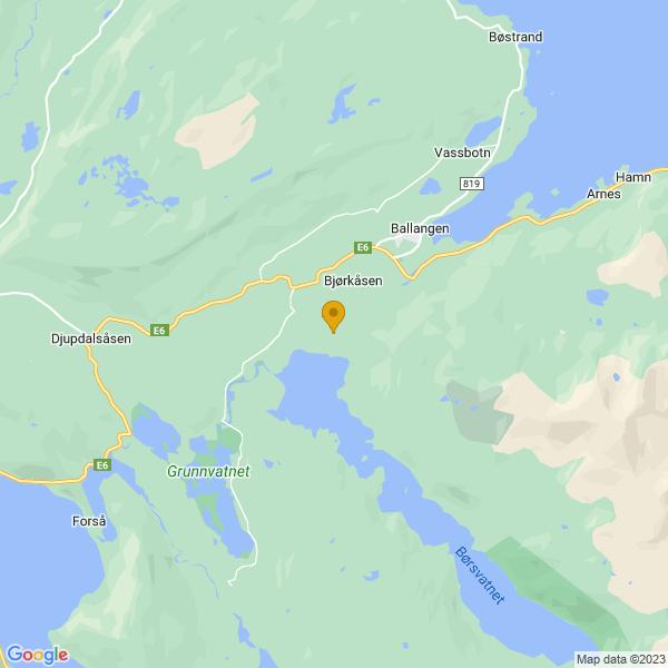 Google Map of 68.3188634,16.778117