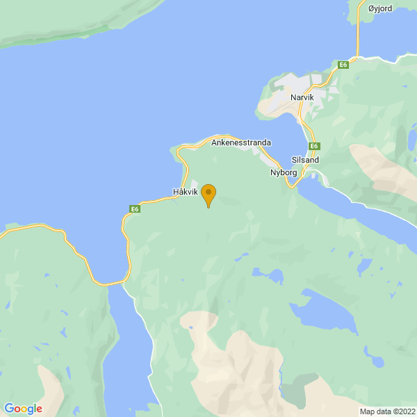Google Map of 68.3980651,17.3346223