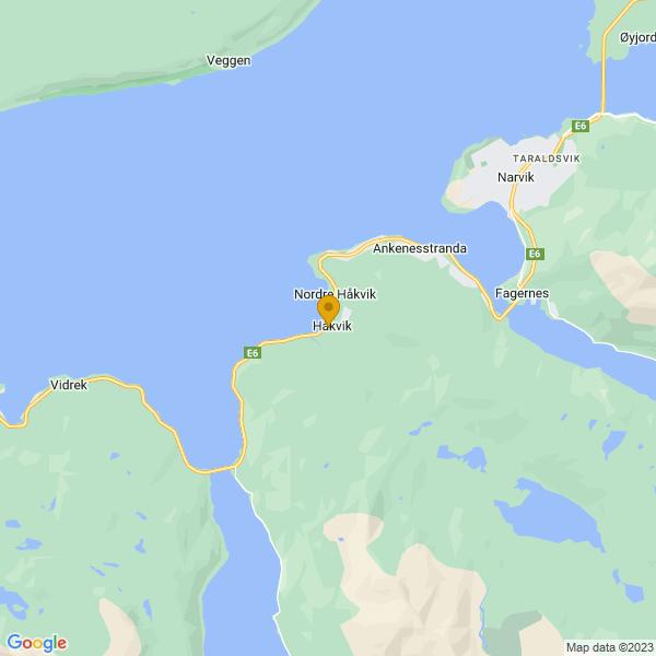 Google Map of 68.403768,17.3091195