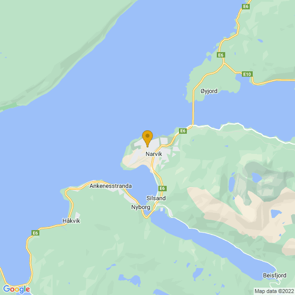 Google Map of 68.4419013,17.4182082