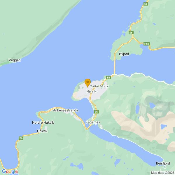 Google Map of 68.4419013,17.4182083