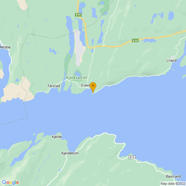 Google Map of 68.45441924133331,16.71210775083111