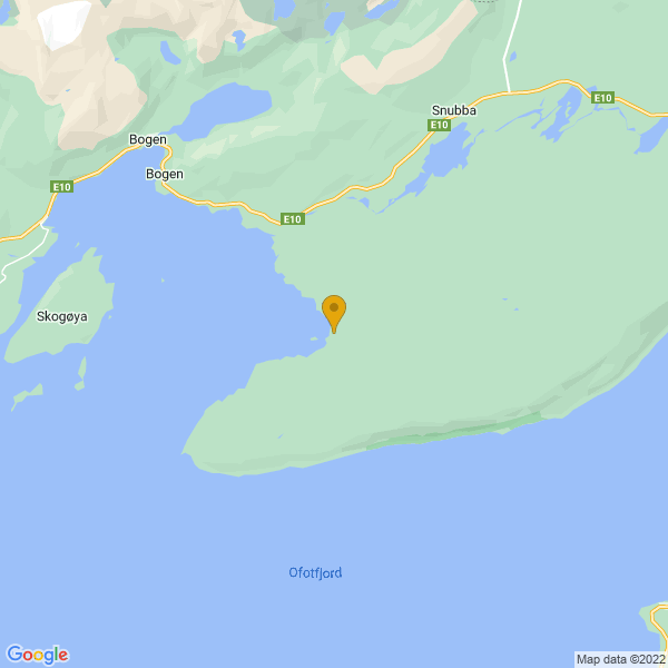 Google Map of 68.48248943269283,17.107705097497046