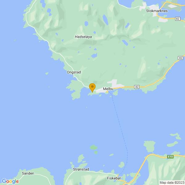 Google Map of 68.49826835928027,14.766263190066033