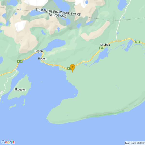 Google Map of 68.5039946539517,17.08957051207998