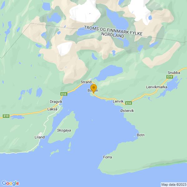 Google Map of 68.51625374055656,17.00507640838623