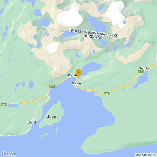 Google Map of 68.52319880531066,17.009171286308813