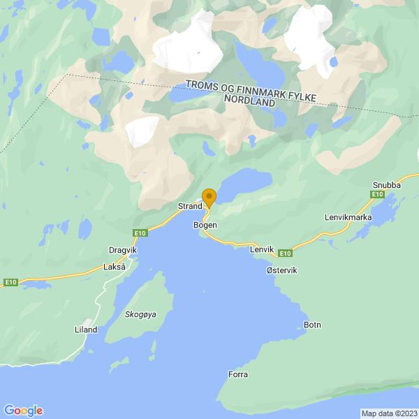 Google Map of 68.52422136475731,17.007416509207587