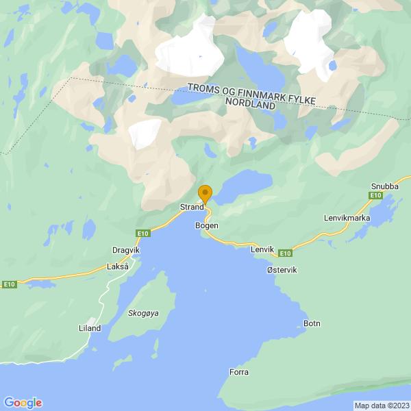 Google Map of 68.52594655160911,17.001918479428138
