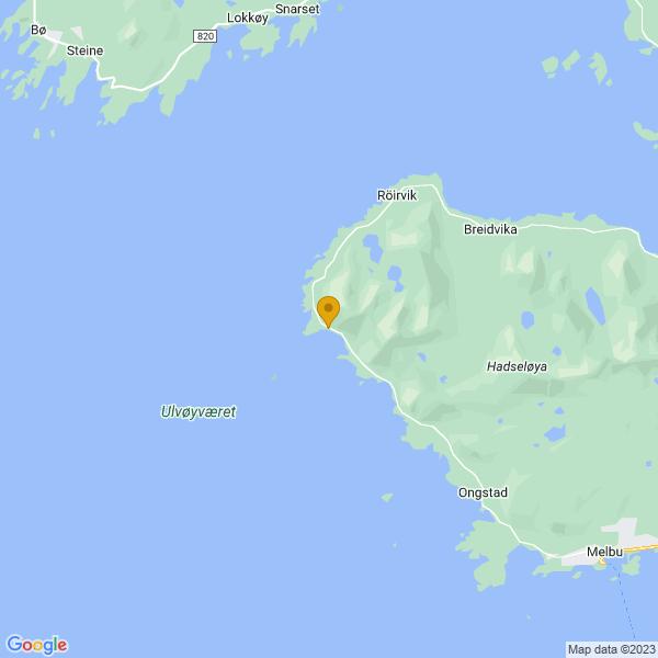 Google Map of 68.55247192689438,14.628129008480755