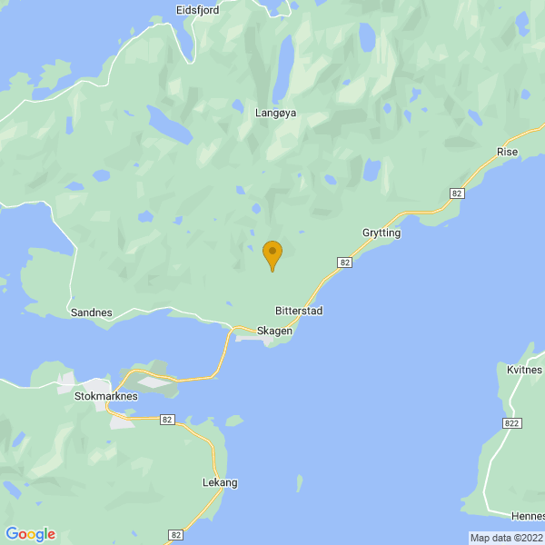 Google Map of 68.59891217668874,15.035463866605255