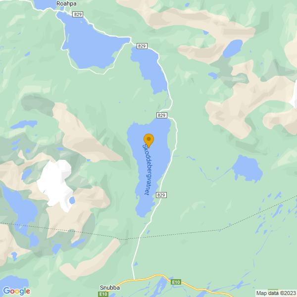 Google Map of 68.6035278,17.2355671