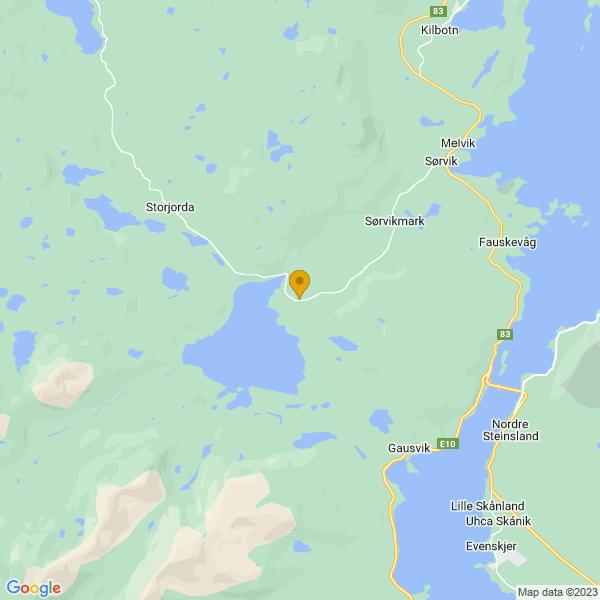 Google Map of 68.65021208446831,16.43753644547257