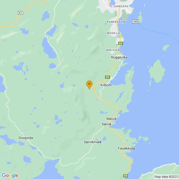 Google Map of 68.7139491,16.49510269999996
