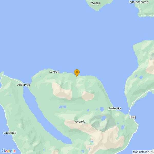Google Map of 68.92225309490134,17.320589894874956