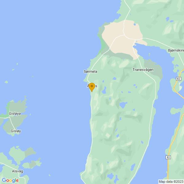 Google Map of 68.96640848679695,15.443163358752455
