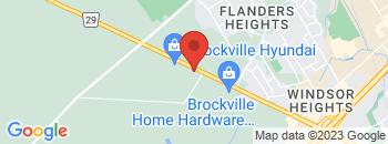 Google Map of 680+Stewart+Blvd%2CBrockville%2COntario+K6V+7H2