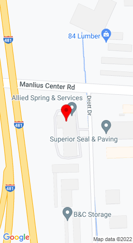 Google Map of Allied Spring & Service Inc. 6800 Manlius Center Road, East Syracuse, NY, 13057