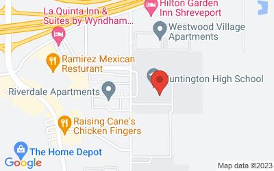 Map of 6801 Rasberry Lane, Shreveport, LA, USA