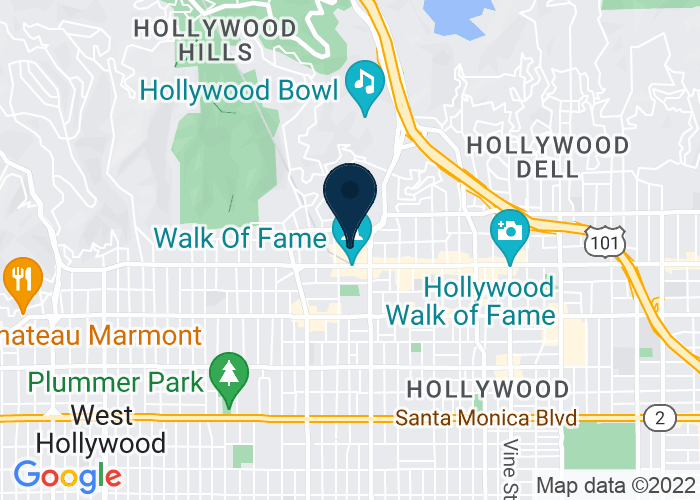 Map of 6801 Hollywood Boulevard, Los Angeles, CA, United States