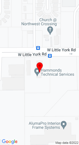 Google Map of Ditch Witch of Houston 6807 West Little York Road, Houston, TX, 77040