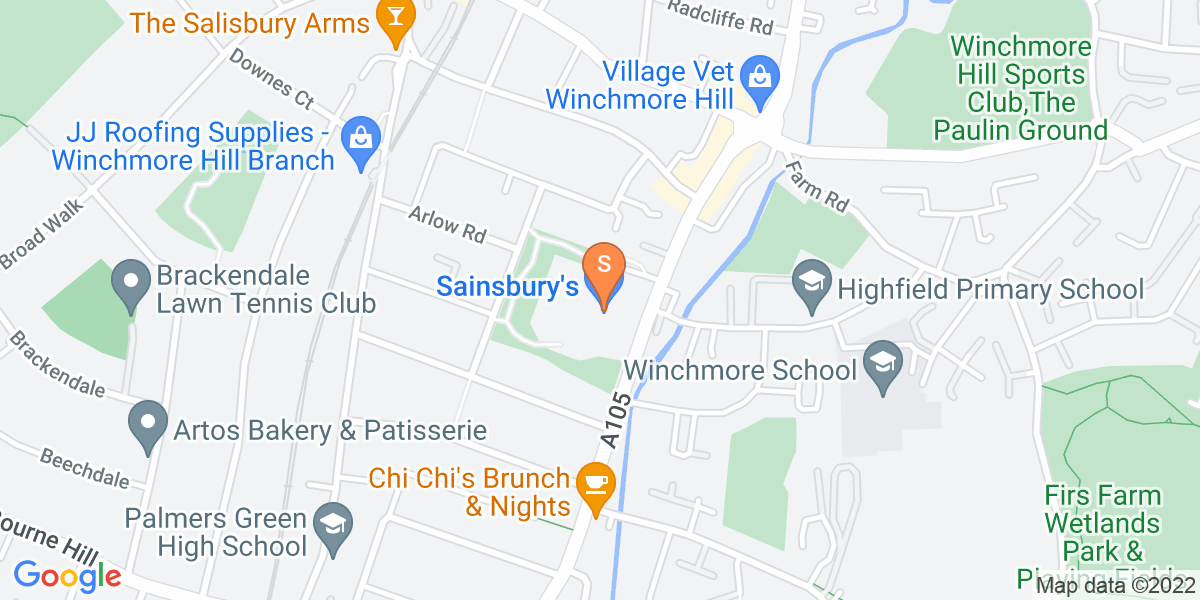 Google Map of 681 Green Lanes London N21 3RS