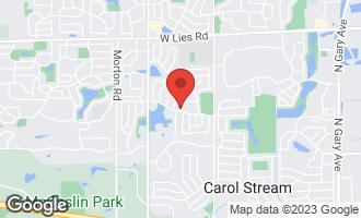 Map of 681 Matthew Lane CAROL STREAM, IL 60188