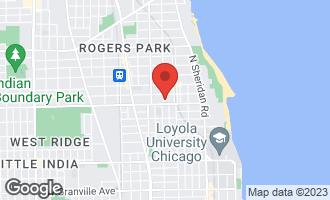 Map of 6811 North Greenview Avenue #2 CHICAGO, IL 60626