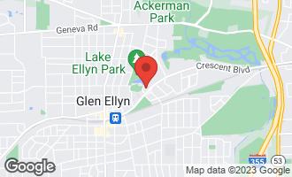 Map of 682 Crescent Boulevard GLEN ELLYN, IL 60137
