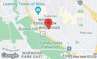 Map of 6878 North Tonty Avenue CHICAGO, IL 60646