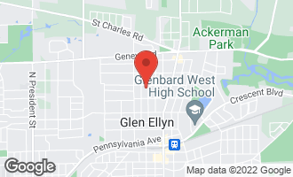 Map of 688 Pleasant Avenue GLEN ELLYN, IL 60137