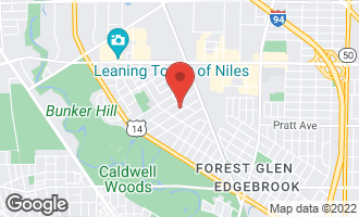 Map of 6880 North Wildwood Avenue CHICAGO, IL 60646