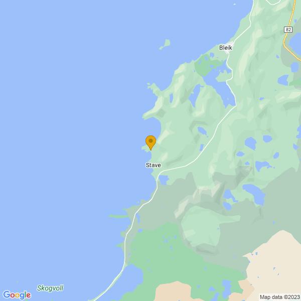 Google Map of 69.22218094920353,15.853417036622432