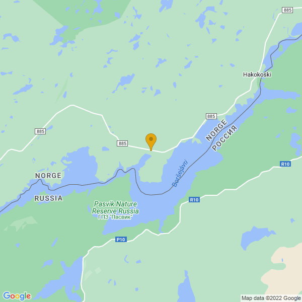 Google Map of 69.33742268330441,29.5483873637797