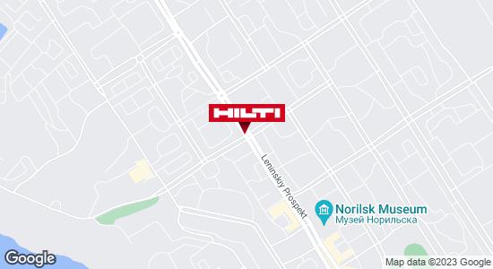 Get directions to Региональный представитель Hilti в г. Норильск