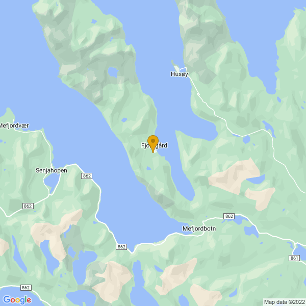 Google Map of 69.5050653800556,17.6267105015747