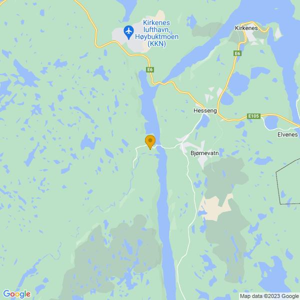 Google Map of 69.6686675789655,29.912508073730482