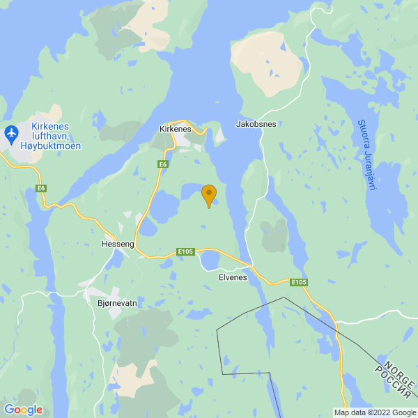 Google Map of 69.69949489999999,30.07804679999999